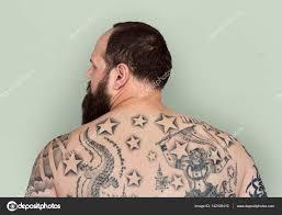 Muž S Tetováním Na Zádech Stock Fotografie Rawpixel 142105410