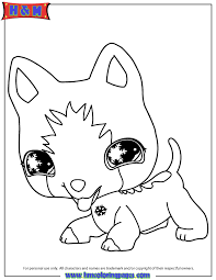 Small Picture Littlest Pet Shop Coloring Pages Littlest Pet Shop Dog Coloring