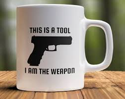 The novelty mug is great for not only gun enthusiasts but police officers (cops) or security guards that would get a kick out of this unique and fun gun gift. Mug For Gun Lovers Etsy