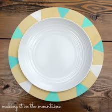 diy painted plates making it in the mountains