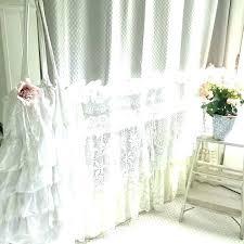 gray ruffle curtains white ruffled shabby chic bohemian lace shower curtain light pane