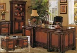 royal and supperior home office room decoration design with wooden furniture royal home office decorating