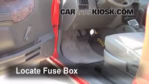 interior fuse box location chevrolet tracker  locate interior fuse box and remove cover