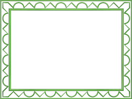 Light Green Artistic Loop Triangle Rectangular Powerpoint Border