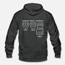 shop subaru hoodies sweatshirts online spreadshirt subaru subaru pedal diagram unisex fleece zip hoodie
