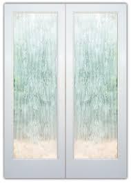 Rain Drizzle 3D Etched Glass Door Contemporary Design Glass