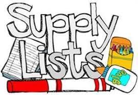 School Supplies List Template Waverly School District 145 Supply Lists