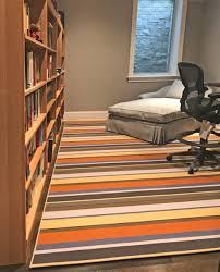 custom striped area rug