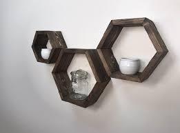 3 hexagon shelf honeycomb floating shelves luxury home decor