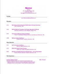 sample resumes make up artist resume examples resume sample resumes