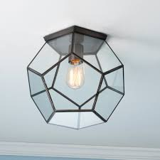 clear glass prism pentagon pendant light. Exellent Prism Clear Glass Prism Pentagon Ceiling Light Clear_glass_bronze And Pendant Shades Of