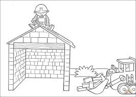 Small Picture Scoop Helps Bob To Build The House coloring page Free Printable