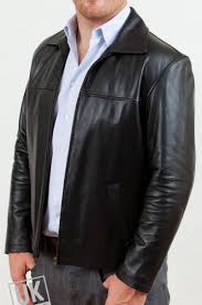 men s black leather jacket classic harrington