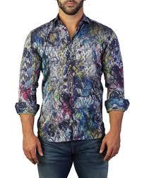 Maceoo Size Chart Maceoo Blue Sport Shirt Neiman Marcus