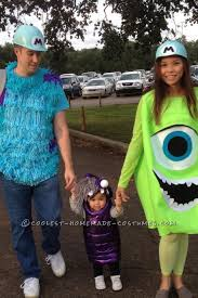 easy disney costumes cool diy monsters inc family costume sully mike and boo