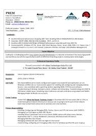 System Administrator Resume Format For Fresher Online Builder Linux