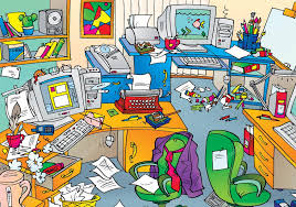 messy office pictures. Very Messy Office With Clutter \u2014 Stock Photo Pictures