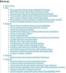 a simple html sitemap sle