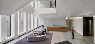 interior design magazine features calm cool and collected vibe of white case s new york office