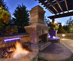 Of Outdoor Fireplaces Outdoor Fireplaces With Water Feature Outdoor Fireplaces