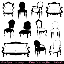 chair clipart black and white. dining table clipart black and white furniture chair c