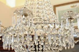 double crown bag and tent cut crystal chandelier