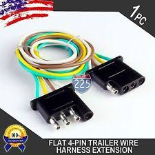 pin trailer connector 2pcs 1ft trailer light wiring harness extension 4 pin 18 awg flat wire connector