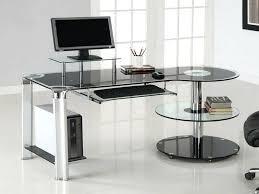 home office office furniture contemporary. Glass Office Desks Contemporary Furniture Desk Home Regarding Idea 3 For . E