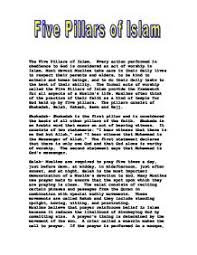 five pillars of islam gcse religious studies philosophy five pillars of islam