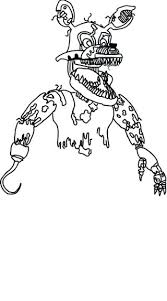 Fnaf Coloring Pages Nightmare Foxy