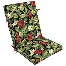 Shop Garden Treasures Black Floral Tropical Standard Patio Chair