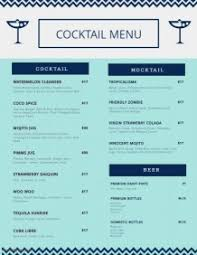 To Go Menu Templates Customize Free Cocktail Menu Templates Postermywall