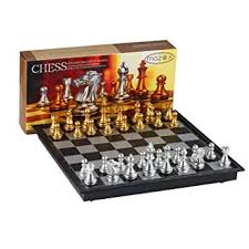 Folding Magnetic Travel Chess Set By MAZEX For Kids Or Adults Chess Board  Game 9.8X9