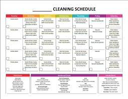 Household Chore List Template Complete Housekeeping Printable Set Weekly Cleaning