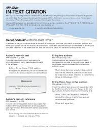 Basic Apa Style Apa Basics Checklist Citations Reference List And Style By The
