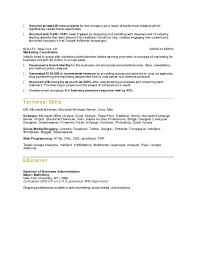 Sample Social Media Resume resume Business Resume Samples 66