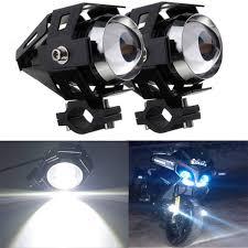 Motorbike Fog Lights 2x 125w Cree U5 Led Motorcycle Bike Head Spot Driving