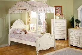 Bedroom: Cute And Pretty Twin Canopy Bed For Twin Girl Bedroom Decor ...
