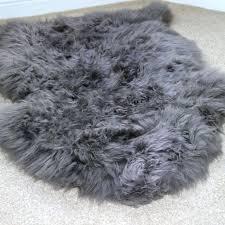 large faux fur rug grey faux fur rug inside large sheepskin home design ideas large faux fur rug