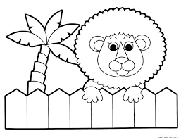 Zoo Animal Coloring Pages To Print Baby Phonics Sheets Dear Lion