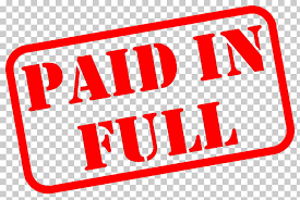 receipt paid down payment invoice debt receipt rubber stamp pain in