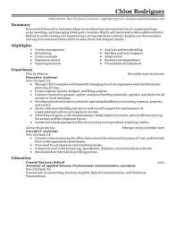 Executive Assistant Resume Examples Administrative