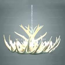chandeliers white faux antler chandelier deer chandeliers for with regard t white faux antler chandelier