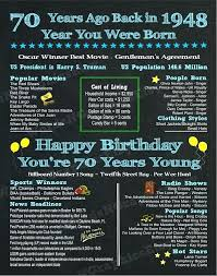 70th birthday gift ideas for dad grandpa chalkboard poster file born nz 70th birthday gift ideas