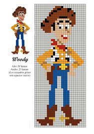 Woody Toy Story X Stitch Perler Bead Disney Beaded Cross