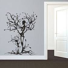 mairgwall gothic wall decal halloween decor skeleton art sticker tree wall art for living room  on kitchen wall art stickers amazon with amazon mairgwall gothic wall decal halloween decor skeleton art