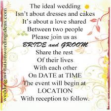 Wedding Inviting Words Wedding Invitation Wording Ideas Just Another Wordpress Site