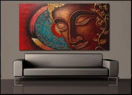 Small Picture Buddha India Canvas Painting Prints Wall Art Home Decor UnFramed
