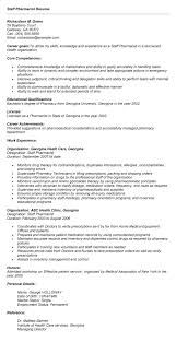 Sample Resume: Staff Pharmacist Resume Exle For Employment.