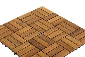 bare decor bare wf2009 solid teak wood interlocking flooring tiles pack of 10 12 x 12 brown amazon